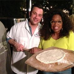 Chatter Busy: Jimmy Kimmel Made Pizza For Oprah (PHOTOS)