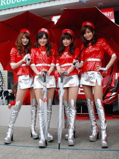 RaceQueen Grid Girls, Dream Cars, Grey Boots, Cheer Skirts, Cosplay, Asian, Womens Fashion, Queens, Colorful