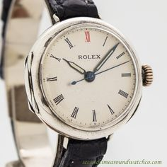 1910's Vintage Rolex Military Sterling Silver Watch
