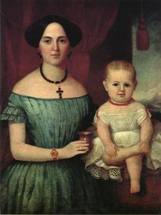 1855 Mrs Wright and baby - Byrd