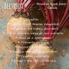 Drinking beets is a great way to get all of the amazing nutrients from this jewel of a vegetable. Other ways include shred/grate into your salad for extra colour and sweetness or roast with your potatoes and pumpkin for a roast vegetable variation. Find out more about Juzcit's cold pressed juices at www.juzcit.com.au #juzcit #coldpressedjuice #cabala #beetroot #rawfood #lowercholesterol #preventcancer #lowerbloodpressure