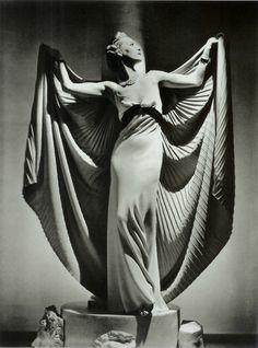 Helen Bennett With Cape, Paris 1936  Photographer: Horst P. Horst