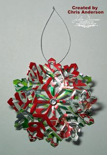 Julie's Stamping Spot -- Stampin' Up! Project Ideas Posted Daily: Soda Can Snowflake Ornament