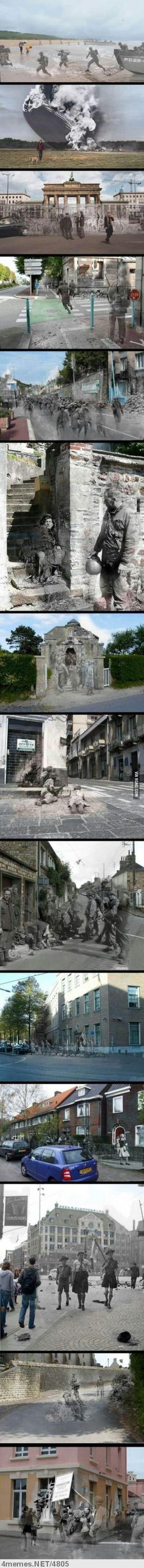 Places 69 years after the 2. World War