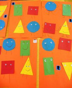 Teach shapes: Shape people