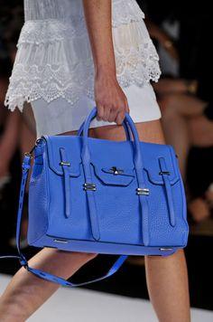 I love the bright blue on this Rebecca Minkoff bag! So fun!