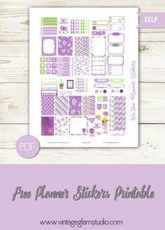 Free Printable Mini Happy Planner Tea Time Planner Stickers from Vintage Glam Studio