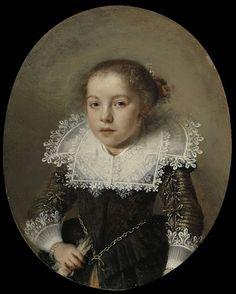 Portrait of Cornelia Cornelisdr van Esch, 1632 - Rijksmuseum Amsterdam European Paintings, Old Paintings, Historical Costume, Historical Clothing, Potrait Painting, Dutch Golden Age, Miniature Portraits, Dutch Painters, Baroque Fashion