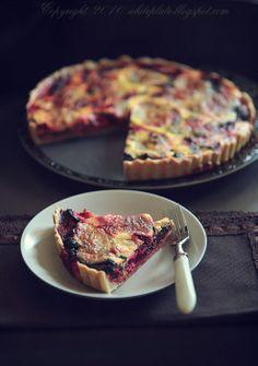 roasted beets, garlic & goat cheese tart (google translate)