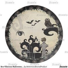 Boo-Tilicious Halloween EVENT PARTY Dinner Plate