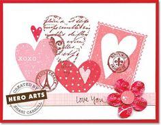 Hero Arts Cardmaking Idea: Love You!