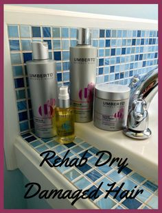 Rehab Dry Damaged Hair - Umberto Beverly Hills Hair Care-Repair Shampoo- Repair Conditioner-Repair Treatment Masque-Roman Oil Serum #beautybrite