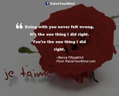 Being with you never felt wrong. It's the one thing I did right. You're the one thing I did right. - http://www.raiseyourmind.com/love/being-with-you-never-felt-wrong-its-the-one-thing-i-did-right-youre-the-one-thing-i-did-right/  Love Quotes Becca Fitzpatrick, crescendo, Love, patch