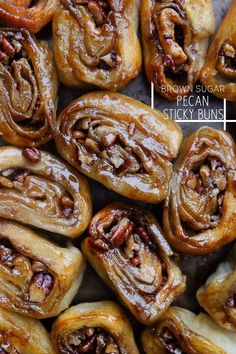 Brown Sugar Pecan Sticky Buns makes 16 small buns recipe adapted slightly from Everyday Food Magazine all-purpose flour, for work surface 1 pound store-bought pizza dough, thawed if frozen cup stick) plus 3 tablespoons unsalted butter , room temper Pecan Sticky Buns, Pecan Rolls, Sticky Rolls, Best Sticky Buns Recipe, Sticky Cinnamon Bun Recipe, Cinnamon Butter, Brunch Recipes, Breakfast Recipes, Dessert Recipes