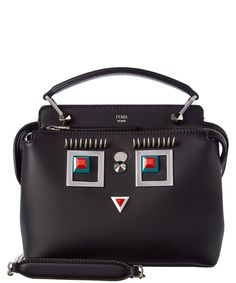 FENDI Fendi Hypnoteyes Dotcom Leather Chain Satchel'. #fendi #bags #shoulder bags #hand bags #leather #satchel #lining #