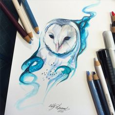 ♡ #AweSomEilluStrationS | 226- Galaxy Owl by Lucky978 on DeviantArt