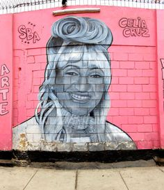 "Callao, Peru - ""Celia Cruz"" Street Art & Graffiti.  This is a mural of the Cuban Singer, Celia Cruz, from the local Street Artist, Salsa.  His works can be found in the Atahualpa region of Callao.  Salsa also maintains an artist studio in the remarkable Callao Monumental Fugaz studio.  Original Photograph by R. Stowe"