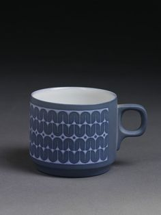 Mug | Clappison, William John | V&A Search the Collections Hornsea Pottery, Pottery Mugs, Ceramic Tableware, Kitchenware, Coffee Shop, Coffee Cups, Vintage Crockery, Morecambe, Pottery Designs