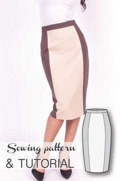 Skirt Patterns - Sewing Tutorials - Pencil Skirt Pattern - Skirt Sewing Patterns…