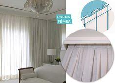 Modelos de cortinas – Prega fêmea