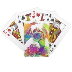 Rainbow Effect Copper the Havapookie Playing Cards - home decor design art diy cyo custom