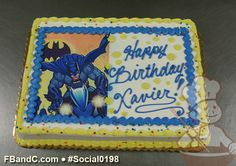 Batman Photo Birthday Cake
