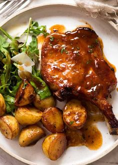 Baked Pork Chop Recipe Made Just Like Oma. The Best Baked Garlic Pork Chops Recipe Oven Baked Pork . Greek Pork Chops With Squash And Potatoes Recipe MyRecipes. Oven Pork Chops, Pork Chops And Potatoes, Meals With Pork Chops, Sauce For Pork Chops, Pork Chop Marinade Baked, Meals With Potatoes, Pork Chop Meals, Sides For Pork Chops, Balsamic Pork Chops