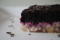Raw Lavender Blueberry Bars (Grain-Free, Refined Sugar-Free, Vegan Optional)