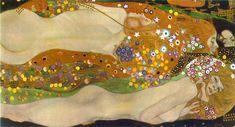 Художник - Густав Климт - «Водяные змеи II» (Модерн, Аллегорическая сцена): Описание картины
