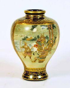 SATSUMA WARE | Kinkozan Satsuma Ware vase,…