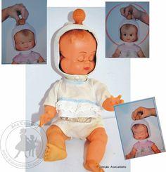 Boneca de Três Faces da Estrela: antiga Boneca da Estrela com 3 faces, girando o botão na cabeça ela tem 4 movimentos divertidos c...
