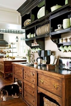 This kitchen is wonderful, too. Not as fancy but it has a vintage-like appeal to it.