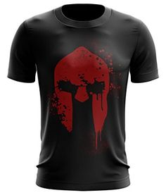 Stylotex Fitness T-Shirt Spartan Helmet Funktions-Stoff schnelltrocknend, Farbe:schwarz;Größe:L
