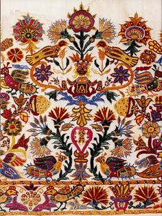 A Note of Friendship: Greek Embroidery and Geek Chicanery Embroidery Patterns Free, Embroidery Fabric, Vintage Embroidery, Fabric Art, Cross Stitch Embroidery, Textile Patterns, Textiles, Greek Pattern, Palestinian Embroidery