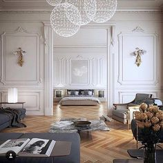 "7,532 Likes, 209 Comments - Ashley Stark Kenner (@ashleytstark) on Instagram: ""Cluster lighting makes a huge impact. • • • • • • #quote #interior #interiordesign #architecture…"""
