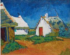 Vincent van Gogh, White Cottages at Saintes-Maries on ArtStack #vincent-van-gogh #art