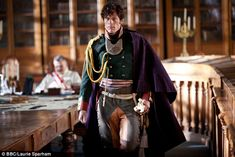 Mr Cheekbones:James Norton, 30, plays Prince Andrei Bolkonsky, a nobleman looking for pur...