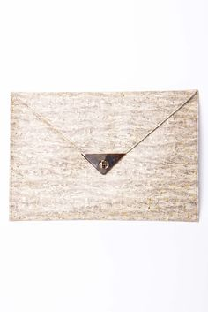Cork Envelope Clutch