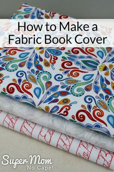 If you love sewing, then chances are you have a few fabric scraps left over. You aren't going to always have the perfect amount of fabric for a project, after all. If you've often wondered what to do with all those loose fabric scraps, we've … Easy Sewing Projects, Sewing Projects For Beginners, Sewing Hacks, Sewing Tutorials, Sewing Tips, Diy Projects, Fabric Book Covers, Fabric Books, Leftover Fabric