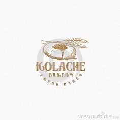 Editable vector of classic bakery logo. separated layer between the background and the logo. with bread, topping and wheat as the icon of this logo.
