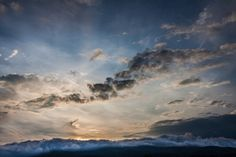 Clouds crawling over the hills at Dusk in Bavaria #skyscape #photo #landscape