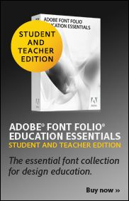 A glossary of typographic terms and Adobe Font Folio Education Essentials - The essential font collection for design education.