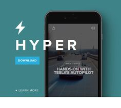 I recently came across the Hyper App while messing around in Apple's App Store. The Hyper App is an app that curates videos from around the web. Im In Love, Apps, Phone, Telephone, App, Phones, Mobile Phones, Appliques