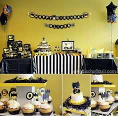 Batman themed painting birthday party ... awesome