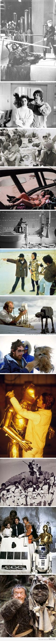 Love these behind the scenes shots from Star Wars!!