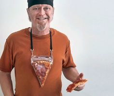 Portable Pizza Necklace Lets You Always Keep Pizza Close To Your Heart