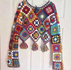 Beau Crochet, Pull Crochet, Crochet Coat, Crochet Blouse, Crochet Granny, Crochet Motif, Crochet Designs, Crochet Clothes, Crochet Lace