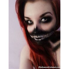 skeleton teeth makeup for Halloween Halloween Costumes 2013 ❤ liked on Polyvore featuring beauty products, makeup, beauty, face paint and halloween