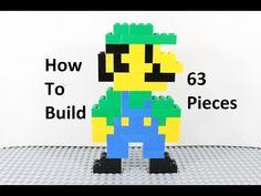 Lego Mario, Lego Super Mario, Super Mario Birthday, Mario Birthday Party, Super Mario Party, Mario Bros., Lego Birthday, Super Mario Bros, Hama Beads Minecraft