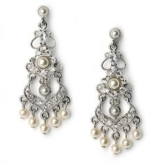 Pearl chandelier earrings ... Love these!!! so classy and cute! totally my taste!